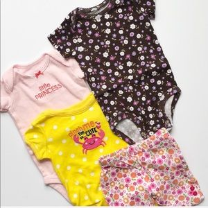 Baby Girl Set of Shorts and Onesies Size 3 Months